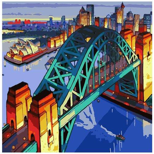 Картина по номерам Сидней, 90 х 90 см, Красиво Красим, Картины по номерам и контурам  - купить со скидкой