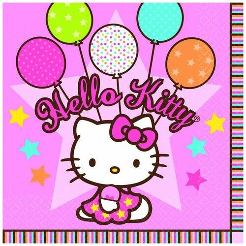 Фото - Amscan Салфетка Hello Kitty 33 х 33 см 16 шт спирали amscan пастель 55 см 12 шт