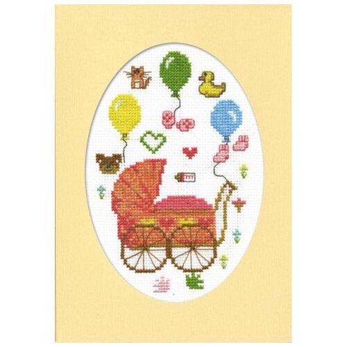 Набор для вышивания, открытка С рождением дочурки 11 х 16 см МАРЬЯ ИСКУСНИЦА 10.004.01 набор для вышивания марья искусница 11 001 24 испания