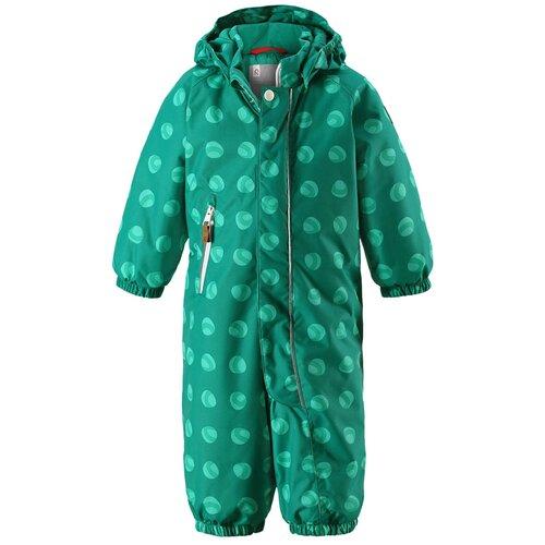 комбинезон детский reima reimatec puhuri цвет темно синий синий 5102626989 размер 86 Комбинезон Reima Puhuri 510262 размер 74, зеленый с принтом