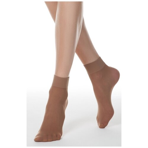 Капроновые носки Conte Elegant Solo, 2 пары, размер 23-25, natural