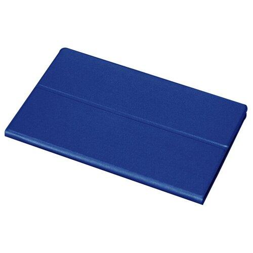 Чехол-книжка MyPads для Samsung Galaxy Tab A 2016 7.0 SM-T285/ T280 / T280N / T288 / T285C водоотталкивающий с мульти-подставкой на жесткой металлической основе синий