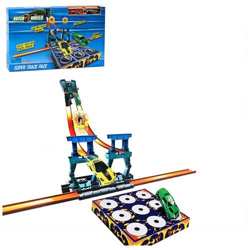Купить Автотрек с машинками, гоночный трек с машинками, трек игрушечный, игровой трек для машинок, детский трек, пусковой трек, 2 машинки , Компания Друзей, Детские треки и авторалли