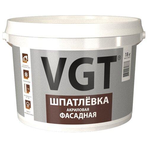 Шпатлевка VGT акриловая фасадная, белый, 18 кг
