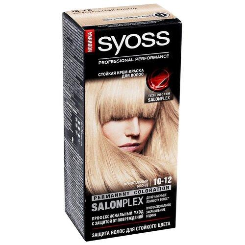 Syoss Color Стойкая крем-краска для волос, 10-12 Кристальный блонд