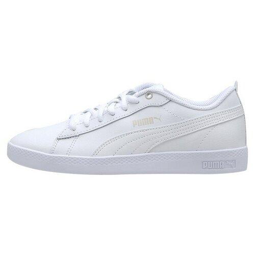 Кеды PUMA Smash V2 L размер 37.5, puma white/puma white кроссовки женские puma st runner v2 sd цвет розовый 36527906 размер 3 5 35