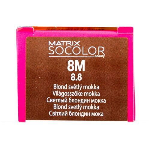 Купить Matrix Socolor Beauty стойкая крем-краска для волос, 8M светлый блондин мокка, 90 мл