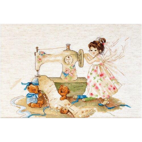 Фото - Luca-S Набор для вышивания Фея-рукодельница, 29 x 19.5 см, B1116 набор для вышивания улитка luca s 9 5 x 5 см b005
