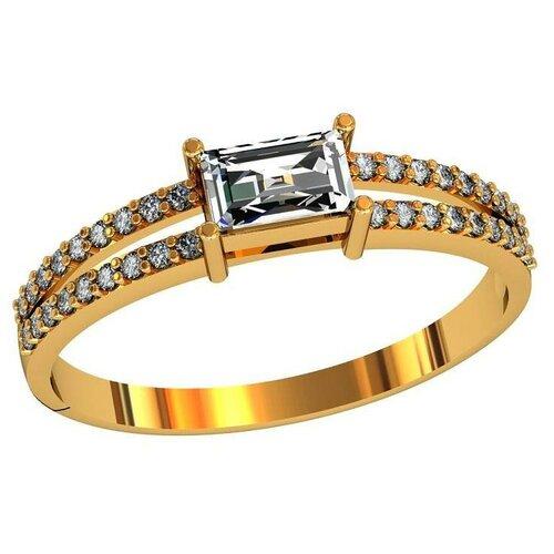Фото - Приволжский Ювелир Кольцо с 37 фианитами из серебра с позолотой 252335-FA11, размер 18 приволжский ювелир кольцо с 11 фианитами из серебра с позолотой 252306 fa11 размер 18