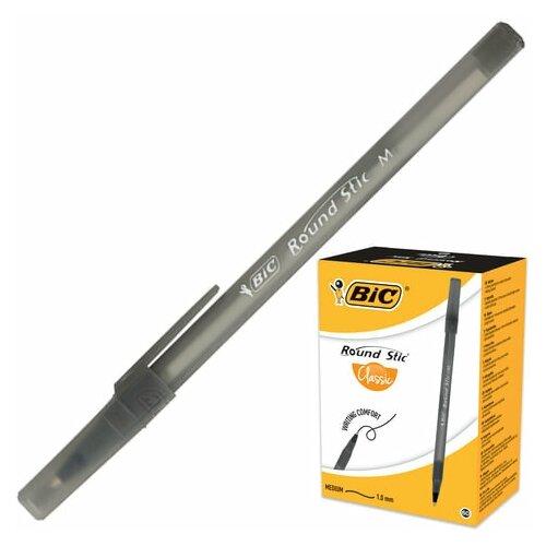 Купить Ручка шариковая BIC Round Stic , черная, корпус черный, узел 1 мм, линия письма 0, 32 мм, 920568, 18 шт., Ручки