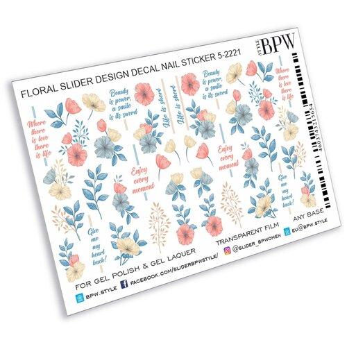 Купить BPW.Style, слайдер-дизайн (Цветы и надписи 3, sd5-2221), BPW style