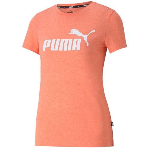 Футболка Puma Ess Logo Heather Tee Оранжевый S 58687624 puma футболка женская puma ess cropped logo размер 44 46