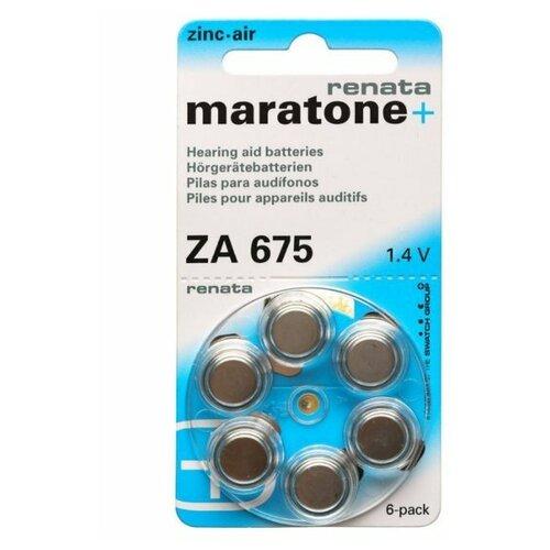 Фото - Батарейки Renata ZA675 (6 штук) батарейки perfeo za312 6bl airozinc premium 6 штук