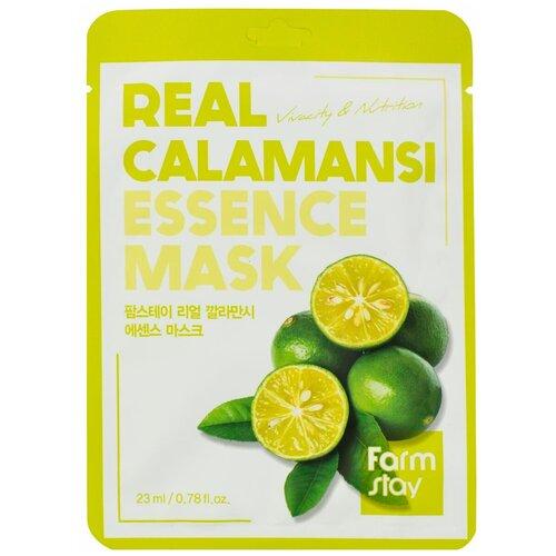 Тканевая маска для лица с экстрактом каламанси, 23 мл, Farmstay (652482)  - Купить