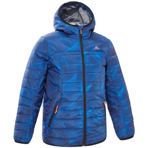 Куртка походная MH500 детская, размер: 123-130 CM 7-8, цвет: Синий QUECHUA Х Декатлон