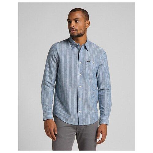 Рубашка Lee размер M выстиранный синий