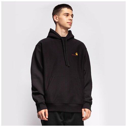 Толстовка с капюшоном CARHARTT WIP Hooded American Script Sweatshirt Black 2021