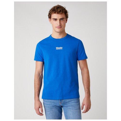 футболка wrangler wrangler wr224emapfw0 Футболка Wrangler W7AKGF размер M, синий