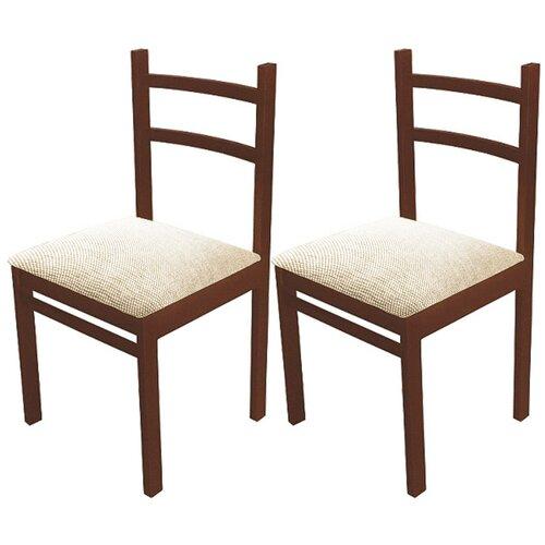 Комплект стульев ЧМФ С41 Грецкий орех / Аполло беж 2 шт недорого