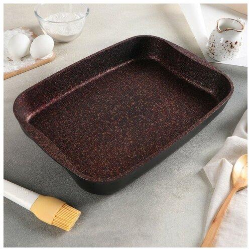 Противень Granit Ultra, 365×260×55 мм, АП линия, цвет красный