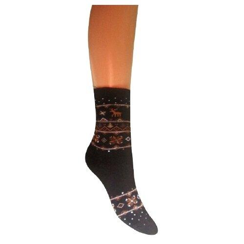 Носки женские Гамма С839, Чёрный, 25-27 (размер обуви 40-41)