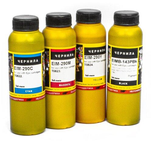 Чернила (краска) Ink-mate для принтеров Epson: Expression Home XP-103, XP-303, XP-207, XP-203, XP-406, XP-306, XP-33, XP-403, XP-313, XP-413, XP-423, XP-323 100x4