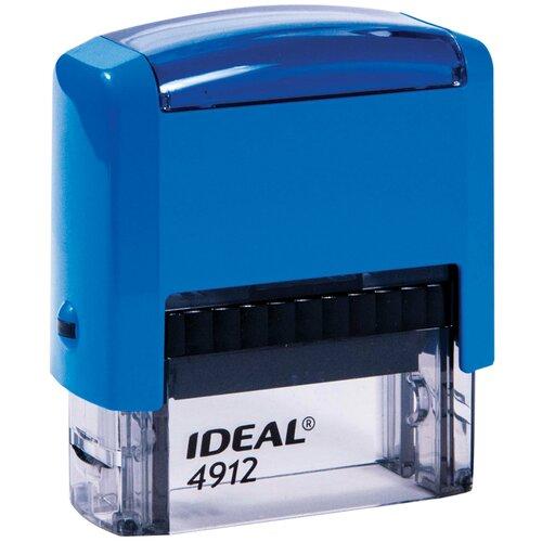 Фото - Штамп самонаборный 4-строчный, размер оттиска 47х18 мм, синий без рамки, TRODAT IDEAL 4912 P2, кассы, 125427 штамп самонаборный 4 строчный оттиск 47х18 мм без рамки trodat ideal 4912 p2 касса в комплекте 125427