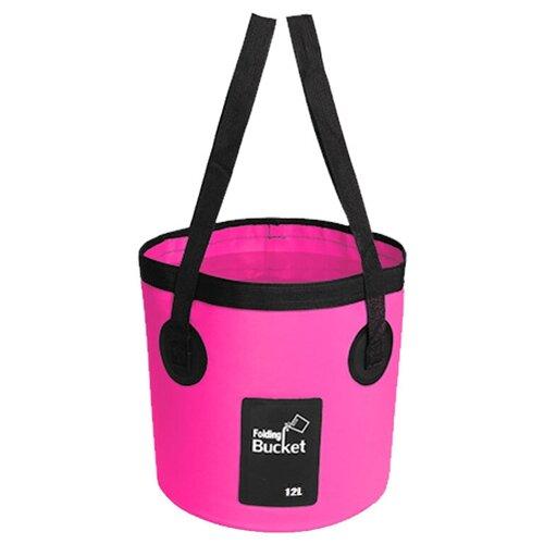 Водонепроницаемая складная сумка-ведро Nuobi Folding Bucket (для дачи, похода, туризма) (Розовый (12л))