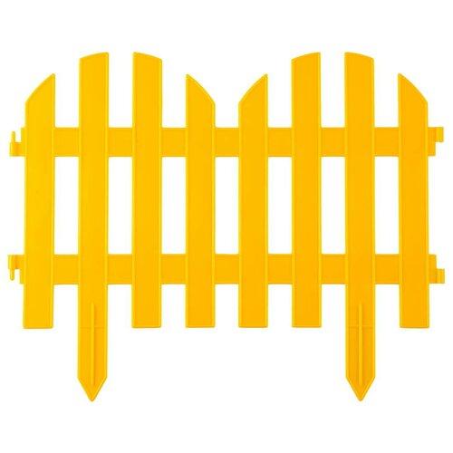 Забор декоративный 28x300 см желтый Grinda 422205-Y