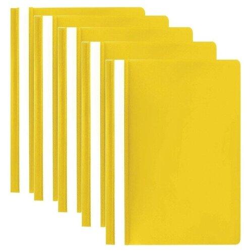Купить STAFF Папка-скоросшиватель А4, полипропилен 100 и 120 мкм, 5 шт. желтый, Файлы и папки