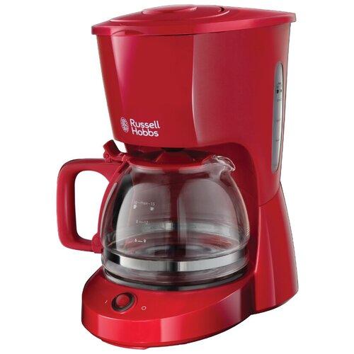 Фото - Кофеварка капельная Russell Hobbs 22611-56 Textures Coffee Maker, красный кофеварка капельная russell hobbs 25610 56