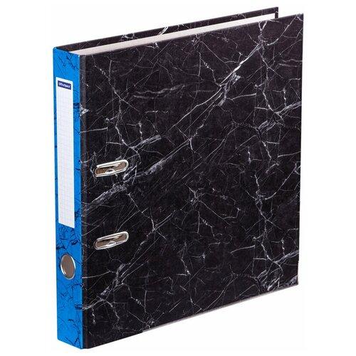 OfficeSpace Папка-регистратор с металлической окантовкой A4, мрамор, 50 мм синий