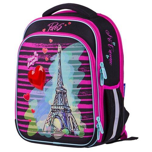 Купить Berlingo ранец Expert Plus Mon Amour, розовый/черный, Рюкзаки, ранцы