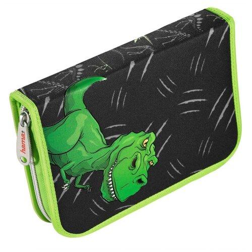 Купить Hama Пенал Hama Dino (139124) черный/зеленый, Пеналы