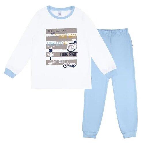 Купить Пижама Bossa Nova размер 86-92, белый/голубой, Домашняя одежда