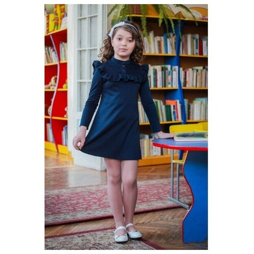 Фото - Платье Ladetto 1С2 размер 30(2)-122, темно-синий платье mayoral размер 7 122 темно синий