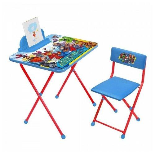 Купить Nika Комплект детской мебели «Marvel» Мстители2 (стол 600+пен+стул), Парты и столы