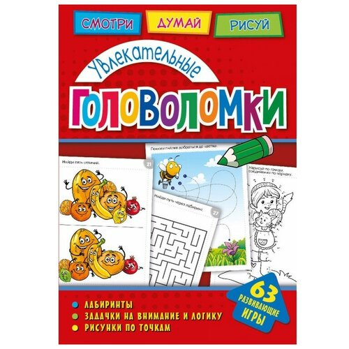 Головоломки. Увлекательные головоломки. Развивающая книга (271153)