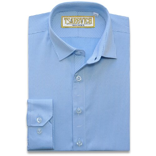 Рубашка Tsarevich размер 31/128-134, голубой