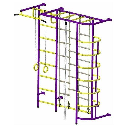 Спортивно-игровой комплекс Пионер С5ЛМ, пурпурный/желтый