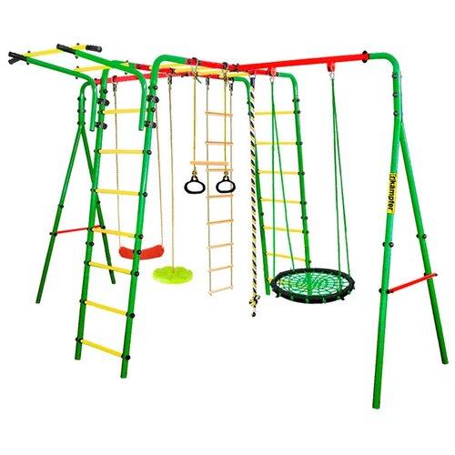 Купить Спортивно-игровой комплекс Kampfer Wunder гнездо среднее, зеленый/зеленый, Игровые и спортивные комплексы и горки