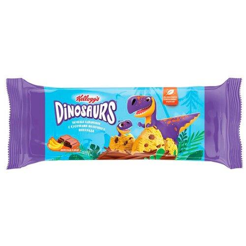 Фото - Печенье Kellogg's Dinosaurs банановое с кусочками молочного шоколада, 120 г без брэнда печенье детское банановое naturbalance semper