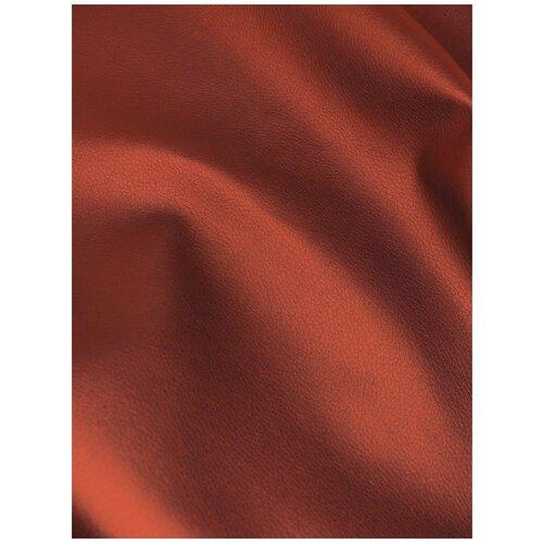 Экокожа автомобильная, искусственная кожа, гладкая - 1,4х10 м, цвет: красный