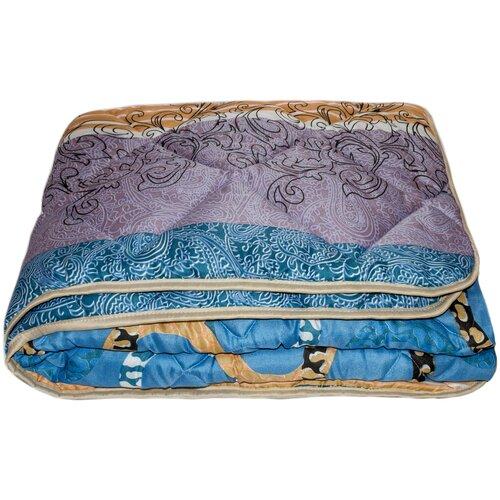 Фото - Одеяло Соната Стандарт файбер, легкое, 172 х 205 см (синий/фиолетовый/оранжевый) одеяло альвитек соната легкое 172 х 205 см бежевый