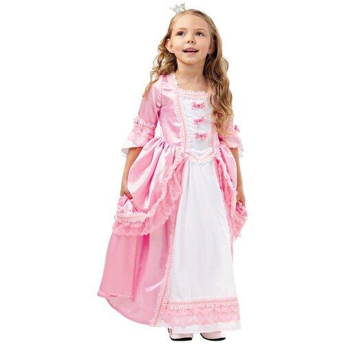 Купить Костюм пуговка Принцесса (2020 к-18), розовый, размер 140, Карнавальные костюмы