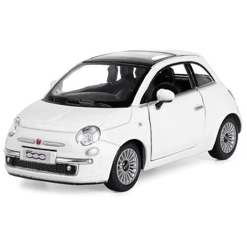 Купить Легковой автомобиль Serinity Toys Fiat 500 (5345DKT) 1:28, 12.5 см, белый, Машинки и техника