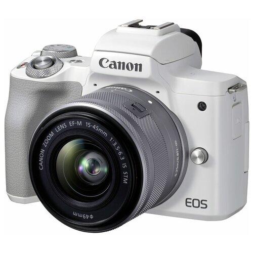 Фотоаппарат Canon EOS M50 Mark II Kit белый 15-45mm IS STM фотоаппарат canon eos m50 kit ef m 15 45mm f 3 5 6 3 is stm white 2681c012