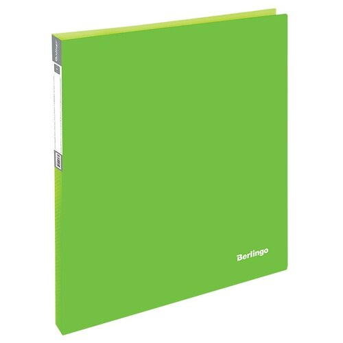 Фото - Berlingo Папка на 2-х кольцах Neon A4, 25 мм, 700 мкм, пластик Неоновый зеленый berlingo папка с 20 вкладышами neon a4 14 мм 700 мкм пластик зеленый
