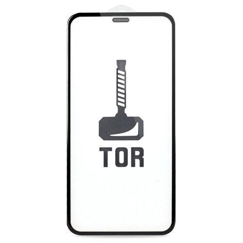 Корейское противоударное стекло для iPhone 12 Mini с Защитной сеткой на динамике / Стекло премиум класса на Эпл Айфон 12 Мини / TOP Premium от 3D до 21D (черный)