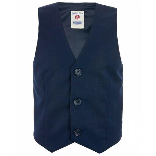 Жилет Button Blue размер 128, синий